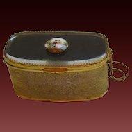 Fabulous Vintage Metal and Glass Handbag - France