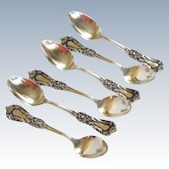 Antique SSMC- Karlton,  Sterling Silver Demitasse Spoons ( 6 )