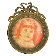 Antique Stern Brothers Brass Picture Frame