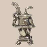 Sterling Silver Pot Belly Stove Charm by Beau