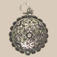 Vintage Sterling Silver Hinged Compact Charm