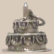 Happy Anniversary Cake Sterling Silver Charm