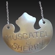 Vintage Sterling Silver Decanter Tag on Chain