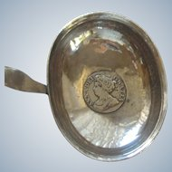 Antique Queen Ann Sterling Silver Coin Brandy Ladle