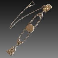 Victorian 10k Gold Filled Watch Chain and Fob