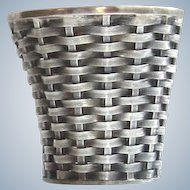 Vintage Janna Thomas, Sterling Silver Basketweave Holder