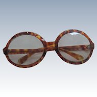 Faux Tortoise Shell Large Glasses/Sunglasses - Italy