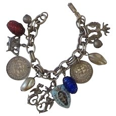 Lovely Vintage CORO Charm Bracelet