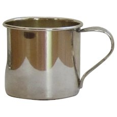 Silver-plate Baby Cup with Spoon Handle
