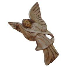 Vintage Hand Carved Wood Angel