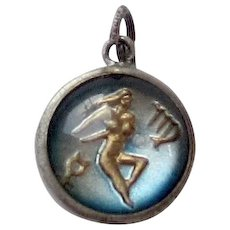 Vintage Sterling Silver Danecraft Virgo Double Sided Zodiac Sign Charm