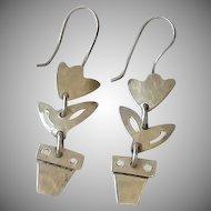 Sterling Silver Flower Pot Charm - Tulip