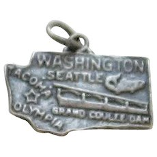 Sterling Silver Charm of Washington State