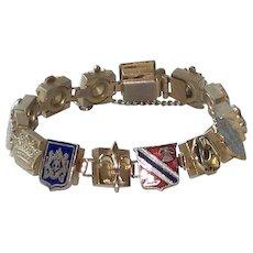 Fabulous Enameled Crest Bracelet