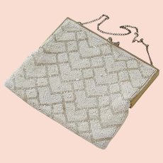 Lovely Vintage Beaded Evening Bag - Belgium