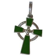 Sterling Silver Enamel Celtic Cross