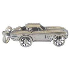 Vintage Sterling Silver Corvette Car Charm