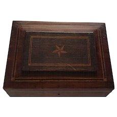 Vintage Mahogany Inlaid Document Box
