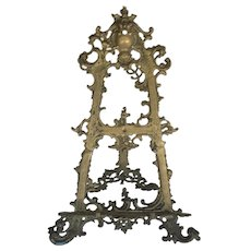 Victorian Ornate Brass Table Easel