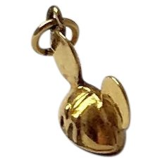 Disney, VanDell, Vintage Sterling, Gold Overlay Mickey Mouse Ears Hat Charm