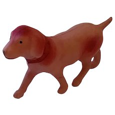 Vintage Celluloid Dog, Ornament, Toy