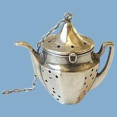 Sterling Silver Tea Pot Tea Strainer