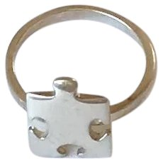 Sterling Silver Puzzle Piece Ring