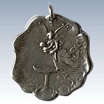 Sterling Silver Pendant - Angel with Child
