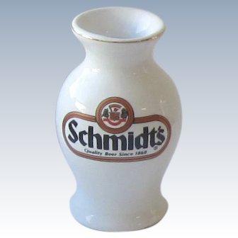 """Pottery Vase - """"Schmidt's Beer"""""""