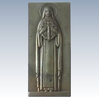 Solid Brass Blessed Mother Statue