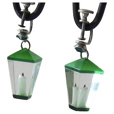 Vintage Lucite Lantern Earrings