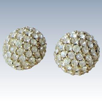 Ciner Rhinestones Earrings