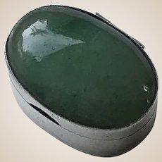 Sterling Silver , Aventurine Pill Box