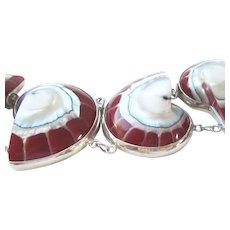 Sterling Silver Seashell Toggle Bracelet
