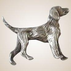 Sterling Silver Sculptured Dog Statue