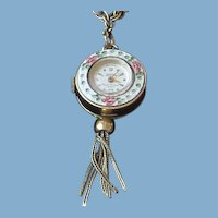 Guilloche Watch Chain Necklace