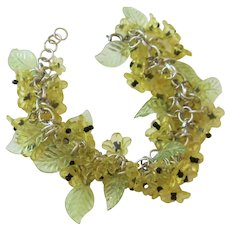 Mid-Century Lucite Flower Bracelet