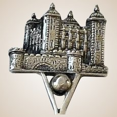 Georgian Era Castle Sterling Silver Demitasse Spoon
