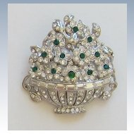 Stunning Vintage Rhodium plated Floral Brooch