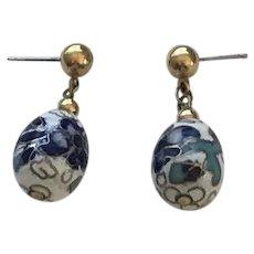 Vintage Cloisonne' Earrings