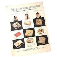 Advertising Magazine Page - Wadsworth Compacts - Men's Elgin Watches