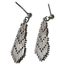 Italian Sterling Silver, Gold Wash Earrings
