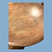 Very Large Wood Dough Bowl
