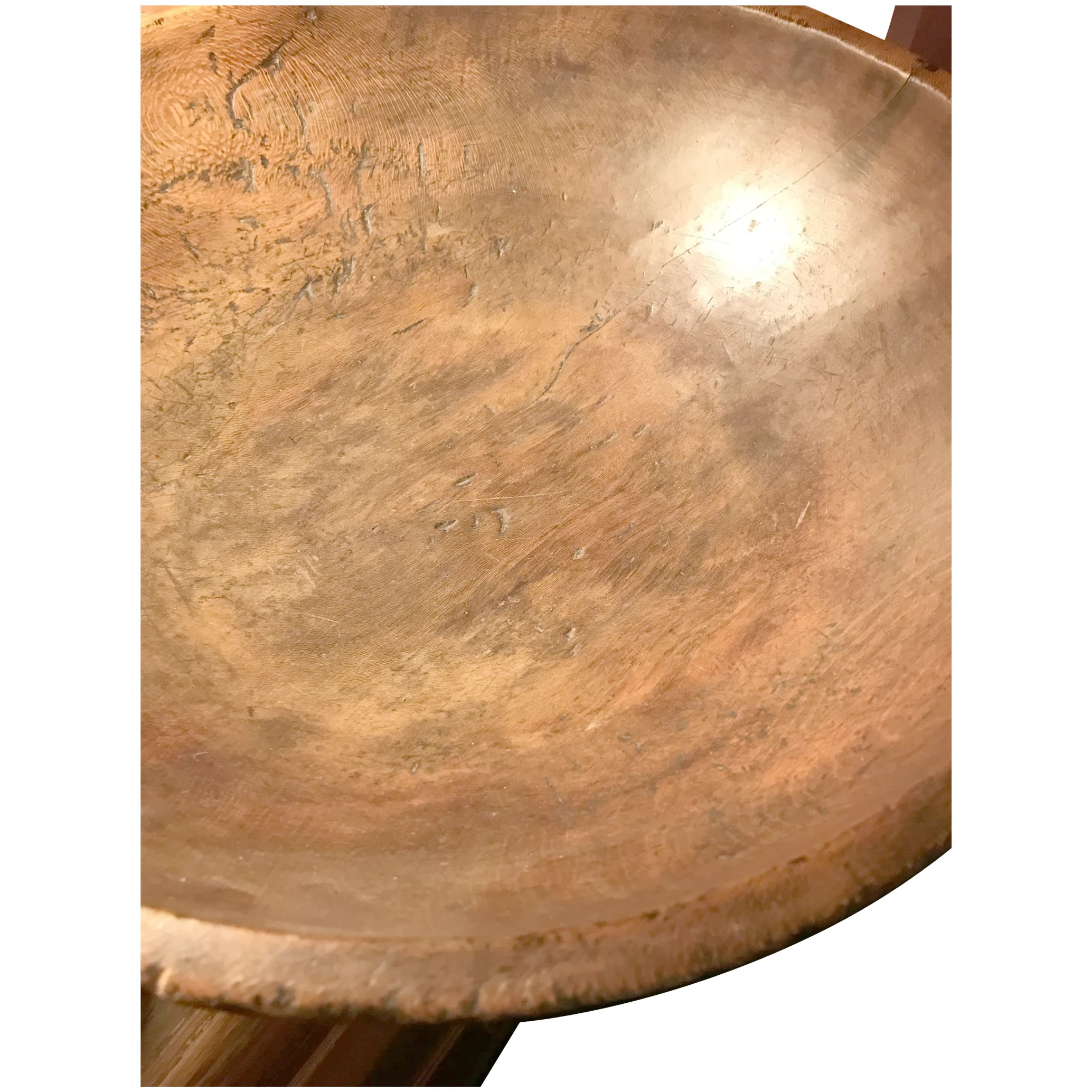 Very Large Wood Dough Bowl
