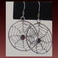 Fun Vintage Cobweb Pierced Earrings