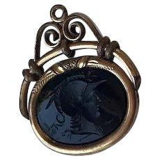 1800s  Cornelian, 10K GF Watch Fob