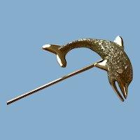 14K Gold Fish Stick Pin