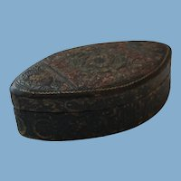 Italian Hand Tooled Leather Trinket Box