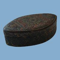 Italian Hand Tooled Leather Trinket Box