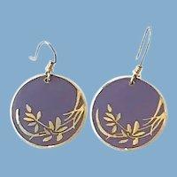 Laurie Burch Lavender Floral Earrings